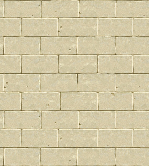 Stone Block Wall Terraria : Trompe l oeil stone block wall with border murals on canvas of yves